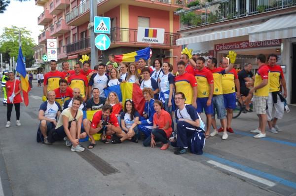 O parte din echipa Romaniei participanta la CMM
